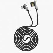 Превью Кабель HOCO U42 Exquisite Steel (USB - micro-USB) черный — 2