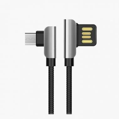 Кабель HOCO U42 Exquisite Steel (USB - micro-USB) черный — 1